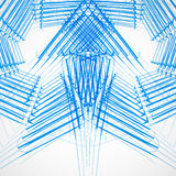 Stylish blue outline sketch arrows Vector Royalty Free Stock Images