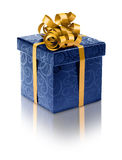 Stylish blue present box Stock Image