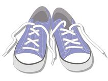Stylish blue sneakers. Cool blue sneakers. This is file of EPS10 format Royalty Free Stock Image