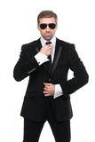 Stylish bodyguard with sunglasses. Royalty Free Stock Images