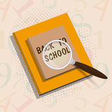 Stylish book for Back to School. vector illustration