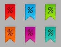 Stylish bookmarks. Vector Stock Photography