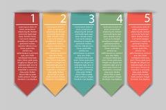 Stylish bookmarks. Vector Royalty Free Stock Image
