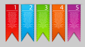 Stylish bookmarks. Vector Royalty Free Stock Photos