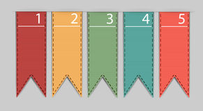 Stylish bookmarks. Vector Stock Images