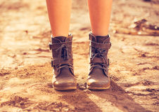 Stylish Boots Royalty Free Stock Images