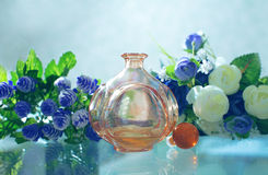Stylish bottle of women's perfume Stock Photo