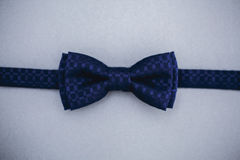 Stylish bowtie soft cloth ribbon. Classic groom accessories. Set of men`s stylish vintage. Male decoration for couple. Jewelry for man. Groom`s morning royalty free stock photo