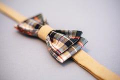 Stylish bowtie soft cloth ribbon. Royalty Free Stock Photography