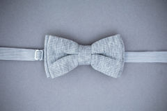 Stylish bowtie soft cloth ribbon. Royalty Free Stock Images