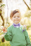 Stylish boy smiling Royalty Free Stock Photos