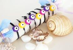 Stylish bracelets with greek evil eye Royalty Free Stock Photos