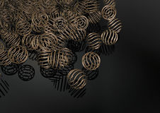 Stylish brass ring spheres background Stock Photo