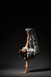 Stylish break dancer make the move Royalty Free Stock Photos