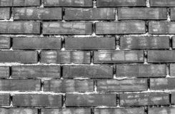 Brick wall background in black and white. Stylish brick wall background in black and white royalty free stock photo