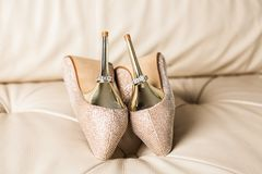 Stylish bridal shoes Stock Photo