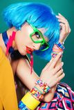 Stylish and bright girl royalty free stock images