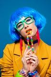 Stylish bright lady royalty free stock photos