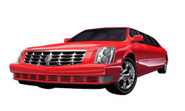 Stylish bright red motor car Royalty Free Stock Photos