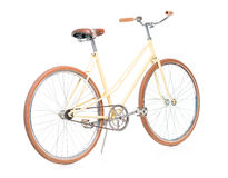 Stylish brown bicycle isolated on white Stock Photos