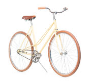 Stylish brown bicycle isolated on white Royalty Free Stock Photography