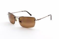 Stylish brown sunglasses. Royalty Free Stock Photos