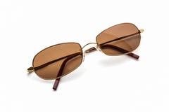 Stylish brown sunglasses. Stock Photos