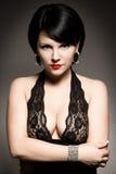 Stylish brunette Stock Images