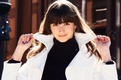 Stylish brunette girl Royalty Free Stock Images