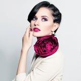 Stylish Brunette Girl Stock Photos