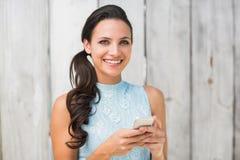 Stylish brunette on the phone Stock Photo