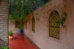 Majorelle gardens in Marrakech town in Morroco stock photography