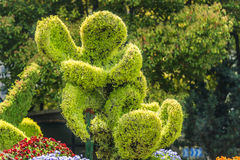Stylish bush sculpture design lovers couple shanghai china Royalty Free Stock Photography