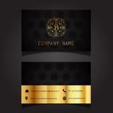 Stylish business card design Stock Photos