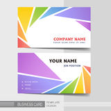 Stylish business card template Stock Images