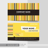 Stylish business card template Royalty Free Stock Images