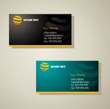 Stylish business card templates Royalty Free Stock Photography
