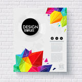 Stylish business design template on a brick wall Royalty Free Stock Photos