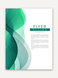 Stylish Business Flyer or Template. Royalty Free Stock Image
