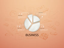 Stylish business infographic elements. Creative business infographic layout with 3D glossy pie chart and various business elements Stock Images