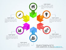 Stylish business infographics for corporate sector. Royalty Free Stock Photography