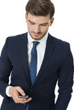 Stylish businessman chatting on his mobile Stock Images