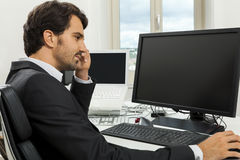 Stylish businessman chatting on the phone Stock Images
