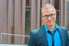 Stylish businessman in eyeglasses. Stock Images