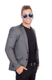 Stylish businessman with sunglasses Royalty Free Stock Photography
