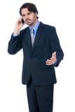 Stylish businessman talking on his mobile phone Royalty Free Stock Image