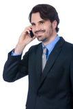 Stylish businessman talking on his mobile phone Stock Photo