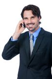 Stylish businessman talking on his mobile phone Royalty Free Stock Photos
