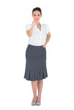 Stylish businesswoman pointing Royalty Free Stock Photo