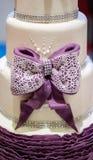 Stylish cake decoration, ribbon Stock Image